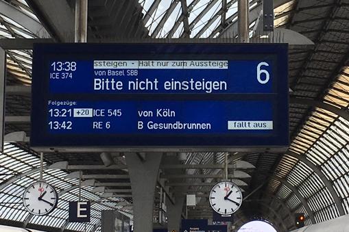 13:19 Uhr statt 13:38 Uhr Ankunft in Berlin-Spandau