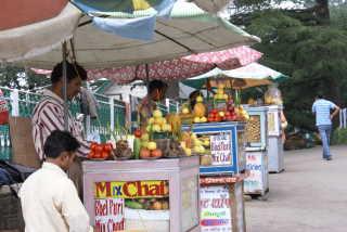 Für Liebhaber der indischen Küche: Snack-Stände in Shimla