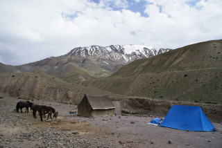 Lager nach Abschluss des zweiten Wandertags