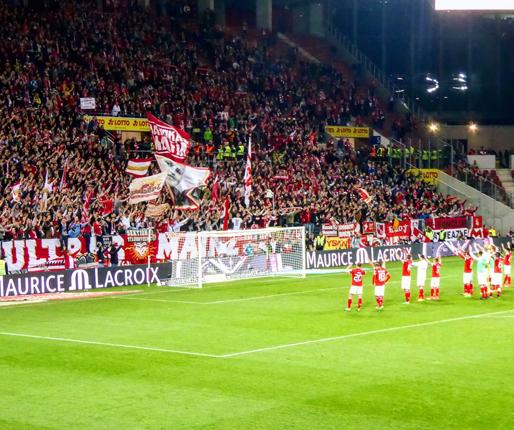 Nach dem Abpfiff im Stadion am Europakreisel gegen Leipzig