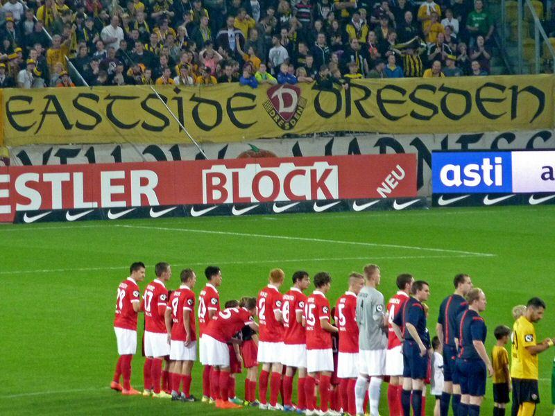 Die Amas bei Spiel in Dresden