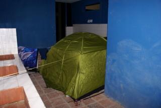 Ein etwas ungewöhnlicher Zeltplatz