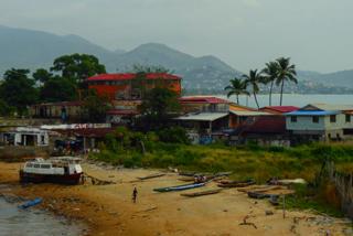 Der Vorort Aberdeen bei Freetown