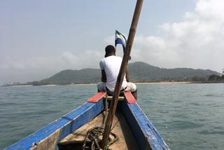 Rückfahrt von den Banana Islands ans Festland
