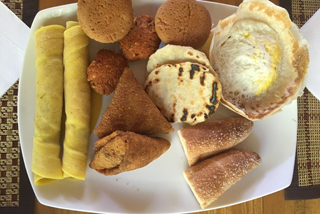 Mächtiges Frühstück im Guesthouse in Udawalawe