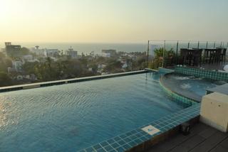 Blick vom Hoteldach auf den Indischen Ozean