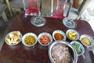 Leckeres Mittagessen in einem Guesthouse am Ende der Wanderung