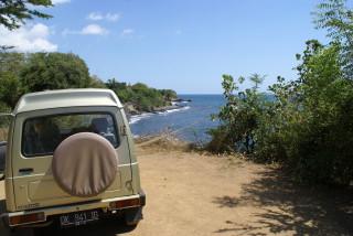 An Balis relativ leerer Nordküste
