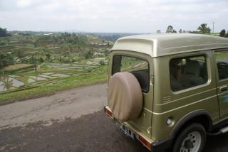 Fahrt zu den Reisterrassen in Jatiluwih