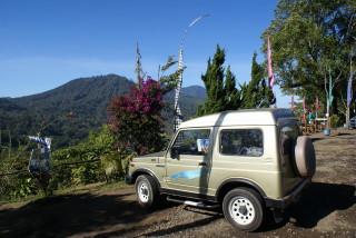 Unser Suzuki Katana in den Bergen Balis