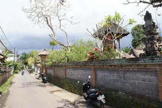 Ruhige Seitenstraße in Ubud