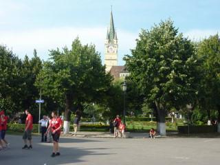Die Innenstadt von Medias in Mainz-05-Hand