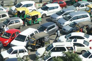 Verkehrschaos in Gurgaon