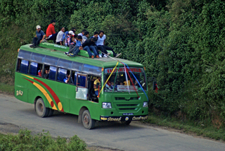 Bustransport in Nepal