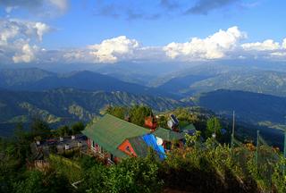 Bergpanorama in Nagarkot