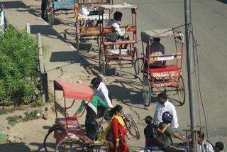 Farrad-Rikschahs als Taxi-Ersatz